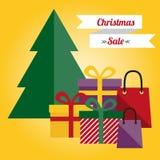 De illustratie van de Kerstmisverkoop Stock Afbeeldingen