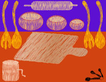 De Illustratie van de keuken royalty-vrije illustratie