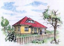 De illustratie van de kleur van huis Stock Fotografie
