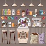 De illustratie van de koffiewinkel Royalty-vrije Stock Afbeelding
