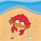 De illustratie van de krab royalty-vrije stock foto's