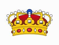 De illustratie van de kroon Royalty-vrije Stock Afbeeldingen