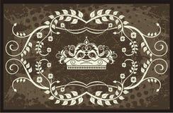 De illustratie van de kroon met wijnstokken Royalty-vrije Stock Fotografie