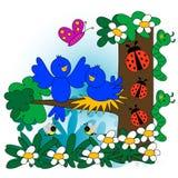 De illustratie van de lente Stock Fotografie