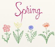 De illustratie van de lente vector illustratie