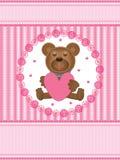 De Liefde Card_eps van de teddybeer Stock Foto