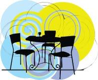 De illustratie van de lijst & van de stoel vector illustratie