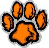 De Illustratie van de Mascotte van de Poot van de tijger Royalty-vrije Stock Foto