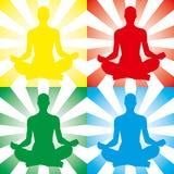 De illustratie van de meditatie vector illustratie
