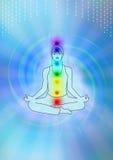De illustratie van de meditatie Royalty-vrije Stock Foto
