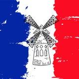 De illustratie van de Moulinrouge Royalty-vrije Stock Afbeeldingen