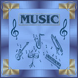 De illustratie van de muziek Royalty-vrije Stock Afbeelding