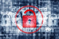 De Illustratie van de netwerkveiligheid Stock Foto's