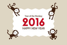 De illustratie van de nieuwjaaraap Stock Fotografie
