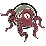 De illustratie van de octopus Stock Foto's