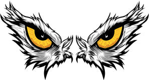 De Illustratie van de Ogen van de adelaar Stock Fotografie