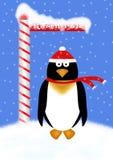 De Illustratie van de Pinguïn van de vakantie Stock Fotografie
