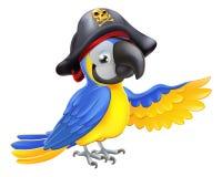 De Illustratie van de piraatpapegaai Stock Fotografie