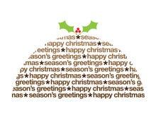 De illustratie van de puddingsgroeten van Kerstmis Stock Fotografie