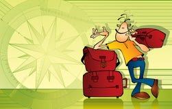 De illustratie van de reiziger Stock Afbeelding