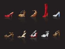 De illustratie van de schoen en van de laars vector illustratie