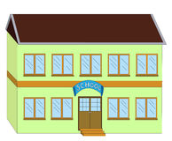 De illustratie van de school Stock Afbeelding