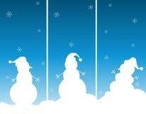De Illustratie van de sneeuwman/van Sneeuwmannen Stock Foto
