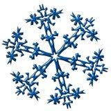 De illustratie van de sneeuwvlok Royalty-vrije Stock Afbeelding