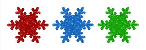 De Illustratie van de sneeuwvlok Stock Foto