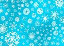 De Illustratie van de sneeuwvlok op Blauw stock illustratie