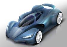 De illustratie van de sportwagen Stock Afbeeldingen