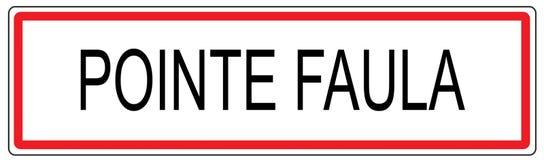 De illustratie van de stadsverkeersteken van Pointefaula in Frankrijk Royalty-vrije Stock Afbeeldingen
