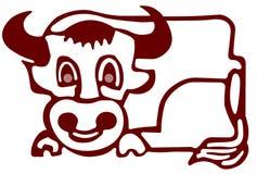 De illustratie van de stier Stock Foto