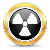 De illustratie van de straling icon Royalty-vrije Stock Afbeeldingen