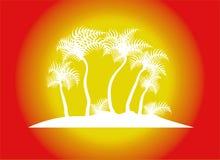 de illustratie van de strandpalm Royalty-vrije Stock Foto