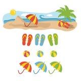 de illustratie van de strandvakantie Royalty-vrije Stock Afbeelding
