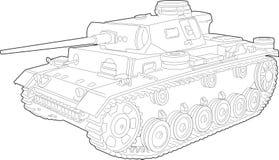 De Illustratie van de tank Stock Foto