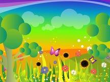 De illustratie van de tuin Stock Fotografie