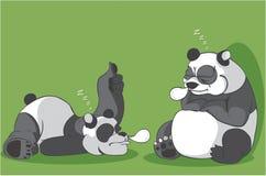 De illustratie van de twee pandaslaap Royalty-vrije Illustratie