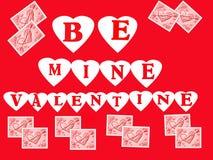 De Illustratie van de valentijnskaart Stock Foto