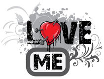 De illustratie van de valentijnskaart Stock Afbeelding