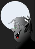 De illustratie van de vampier Royalty-vrije Stock Afbeeldingen