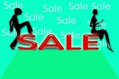 De Illustratie van de verkoop Royalty-vrije Stock Foto's