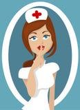 De illustratie van de verpleegster Stock Foto's
