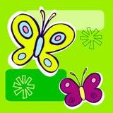 De Illustratie van de vlinder stock illustratie
