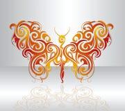De illustratie van de vlinder Royalty-vrije Stock Foto's