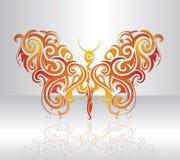 De illustratie van de vlinder Royalty-vrije Stock Afbeeldingen