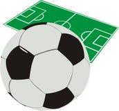 De illustratie van de voetbal Stock Afbeelding