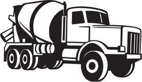 De Illustratie van de Vrachtwagen van het cement royalty-vrije stock afbeelding