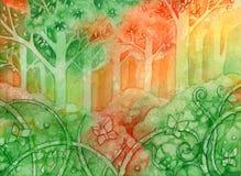 Het Bos van vlinders vector illustratie